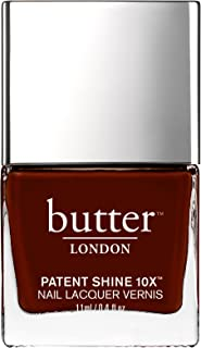 Butter London Patent Shine 10X Nail Lacquer for Women, Rather Red, 0.4 Ounce , 58.97 g