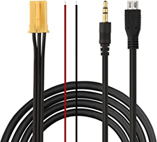 Eximtrade Mini ISO Connector to 3.5mm AUX and Micro USB Connector Music Cable Audio MP3 Music Charging Cable for Fiat / Alfa Romeo / Smart ForTwo / Lancia Ypsilon