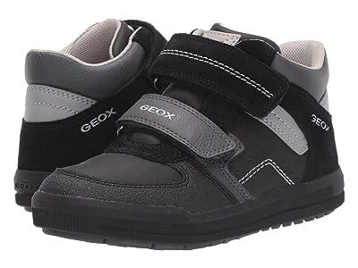 Geox Kids Jr Arzach 16 (Little Kid/Big Kid) (Black/Dark Grey) Boys Shoes