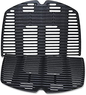 Utheer 7646 Cooking Grid Grate for Weber Q300 Q320 Q3000 Q3200 Series Gas Grills, 25 x 17.8 x 0.5 inches, Replaces Weber 7646 7584, Matte Cast Iron