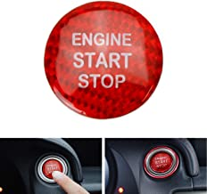iJDMTOY (1) Gloss Red Real Carbon Fiber Keyless Engine Start/Stop Push Start Button Cover For 2014-up Lexus IS GS ES RC, 2016-up RX NX, etc