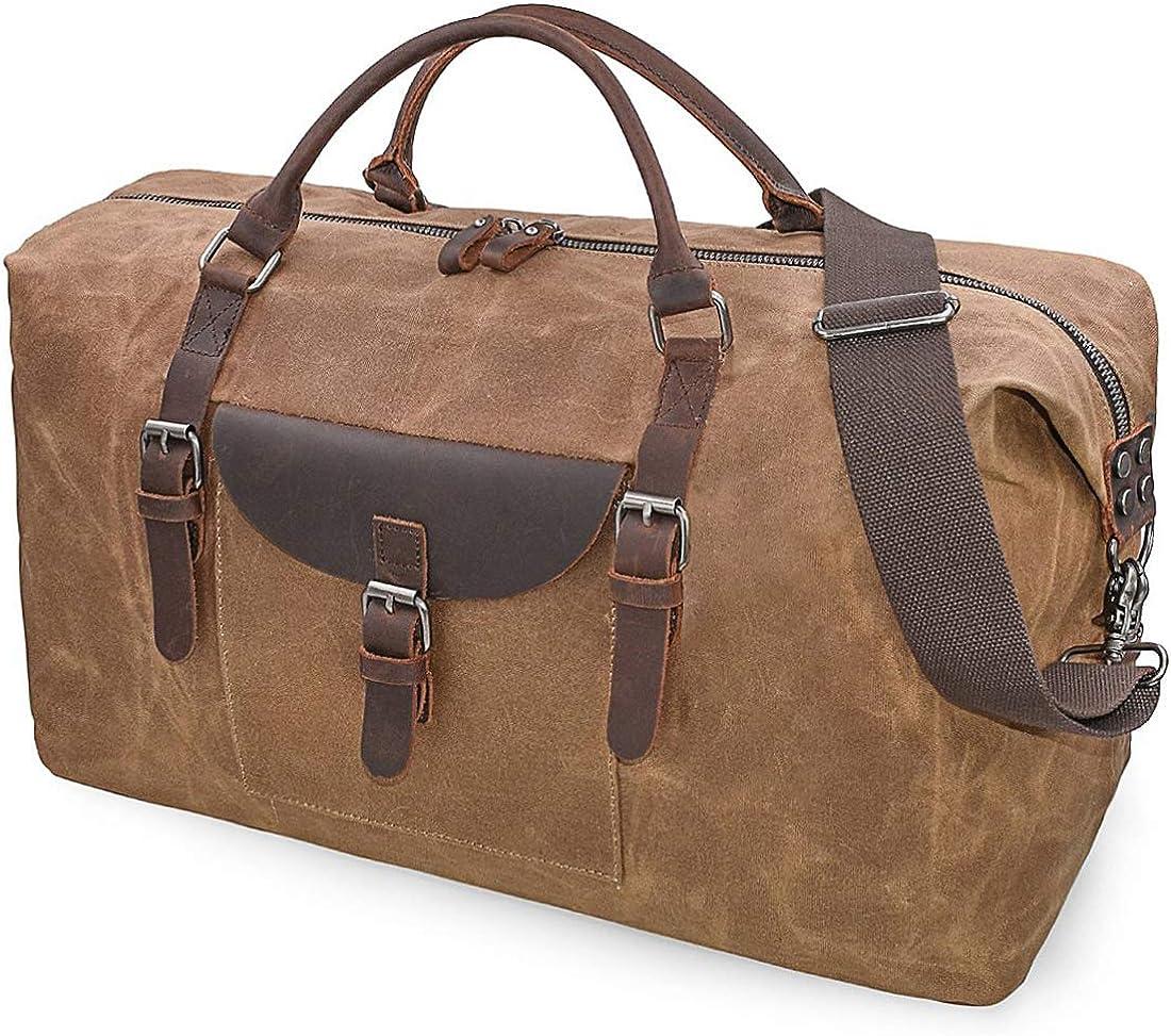 Flipzon 別倉庫からの配送 Duffle Bag for Men Women 超特価SALE開催 Waxed Canvas Waterpr Duffel