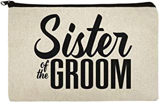 Sister of the Groom Wedding Makeup Cosmetic Bag Organizer Pouch