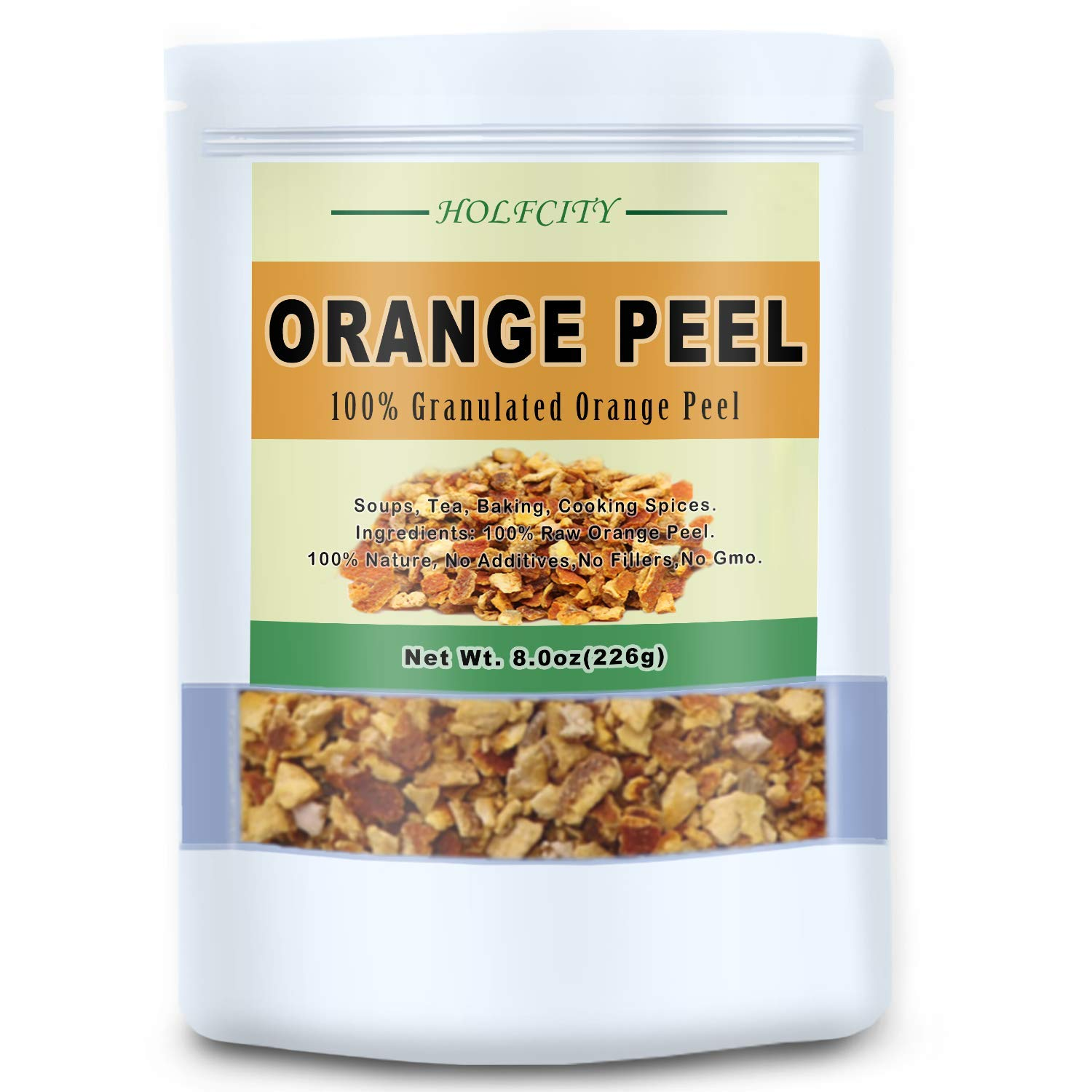 Courier shipping free Natural Orange Peel Granules Premium NEW before selling ☆ for a Tea Zest