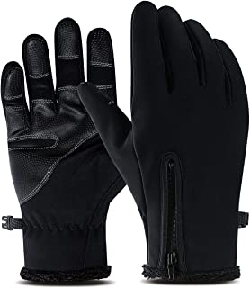 Cycling Gloves Touch Screen, Winter Full Finger Anti-Slip Warm Gloves, Suitable for Indoor and Outdoor Sports, Driving, Skiing, Mountain Bike Riding, Gloves for Men and Women