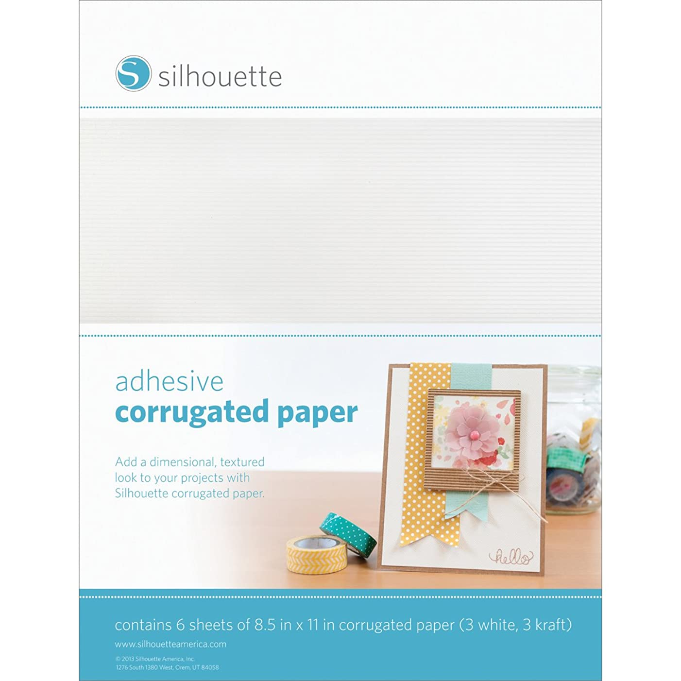 Silhouette Adhesive Corrugated for Scrapbooking