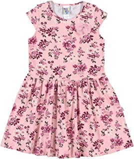 Vestidos Rotativo Rosa Chá Infantil Menina Meia Malha Ref:37537-868