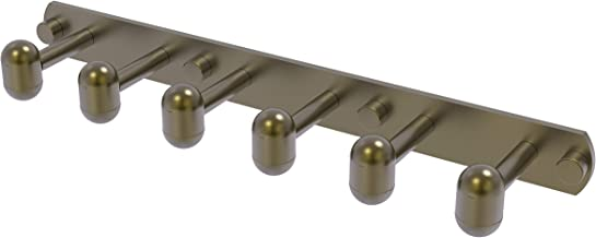Allied Brass TA-20-6-ABR Tango Collection 6 Position Tie and Belt Rack Antique Brass