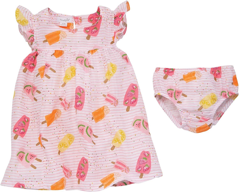 Overseas parallel import regular item Mud Popularity Pie Baby Girls' Dress Muslin Popsicle
