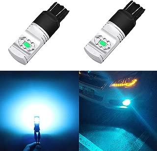 Alla Lighting 3800lm T20 7440 7443 Ice Blue LED Bulbs Xtreme Super Bright 7441 7444 7443 LED Bulb ETI 56-SMD 8000K LED 7443 Bulb for Cars Trucks SUVs Turn Signal Reverse DRL Lights (Set of 2)