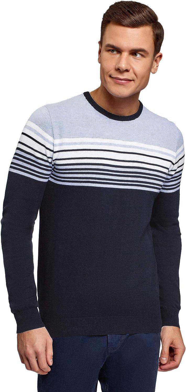 oodji Ultra Men's Striped Popular popular Pullover Cheap bargain Knit