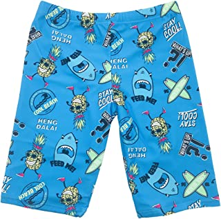 Boys Swimsuit Jammers Kids Shark Print Quick Dry Training Swimming Tight Shorts