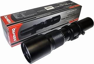 Opteka 500mm f/8 High Definition Preset Telephoto Lens for Canon EOS 80D, 77D, 70D, 60D, 60Da, 50D, 7D, 6D, 5D, 5DS, 1DS, T7i, T7s, T7, T6s, T6i, T6, T5i, T5, T4i, T3i, SL2 and SL1 Digital SLR Cameras