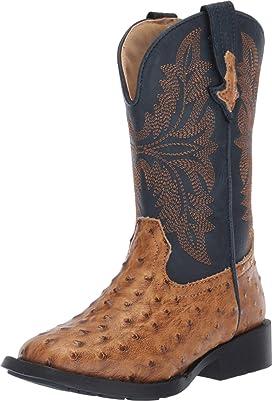 e1b22e2d5ec Old West Kids Boots Square Toe Leatherette (Toddler/Little Kid ...