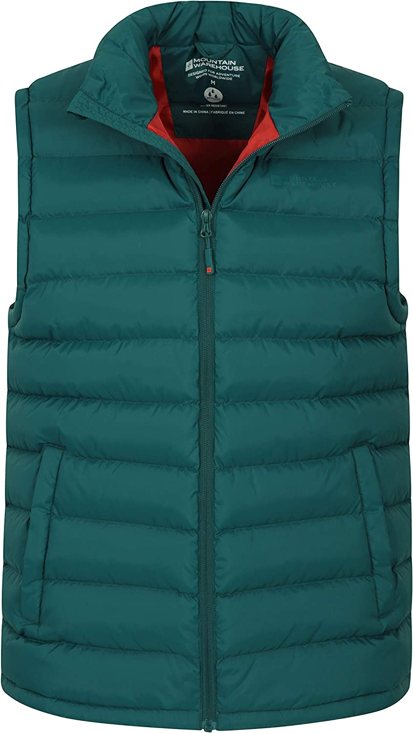 Body Warmer Easy to Store Coat Mountain Warehouse Seasons Mens Padded Gilet Lightweight Jacket for Winter Travelling Water Resistant Gilet Walking