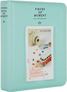 CAIUL [Instax Mini 9 Photo Album] Compatible Pieces of Moment Book Album for Films of Fujiflm Instax Mini 7s 8 8+ 9 25 26 50s 70 90 (64 Photos, Ice Blue)