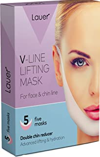 V Shaped Slimming Face Mask Double Chin Reducer V Line Lifting Mask Neck Lift Tape Face Slimmer Patch For Firming and Tigh...