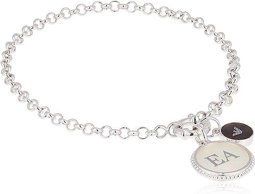 Emporio armani braccialetto a catenina donna argento EG3357040