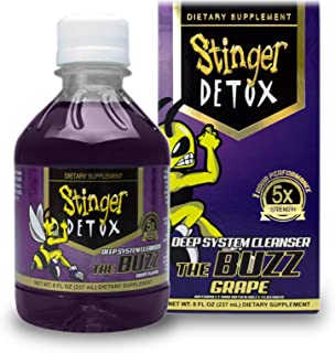 Stinger Detox Buzz 5X Extra Strength Drink – Grape Flavor – 8 FL OZ