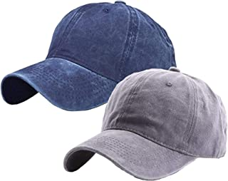 Kids Baseball Hat Cap Girls - Sun Hat - Toddler Baby Boys Cotton Washed and Denim Unisex Unconstructed Age for 2-8Years