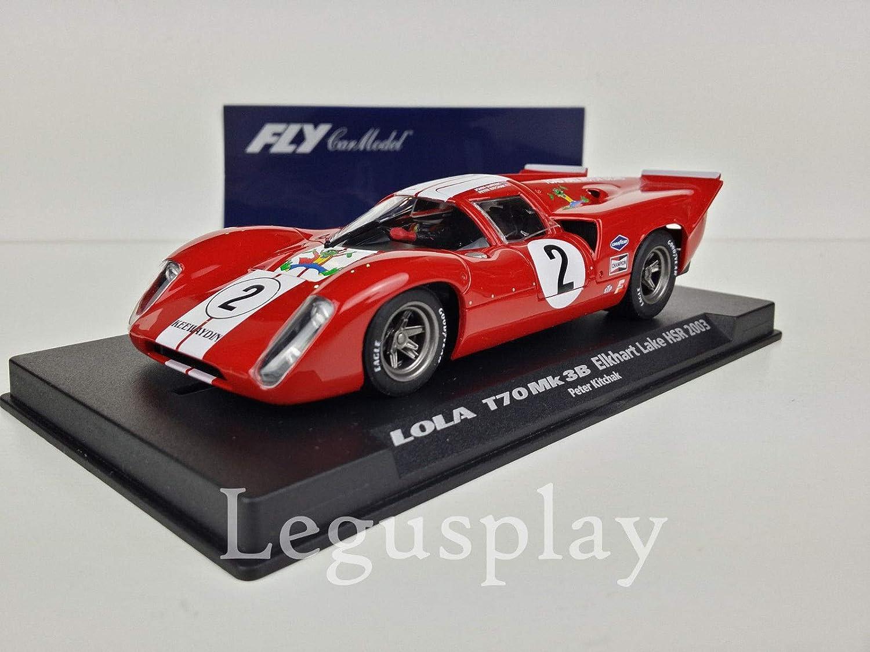 costo real FLy Slot Coche SCX Scalextric 88071 Lola T70 T70 T70 MK3B Elkhart Lake HSR 2003 - Kitchak  popular