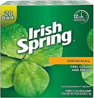 IRISH SPRING Deodorant Soap Original, 3.75 Ounce, Pack of 20