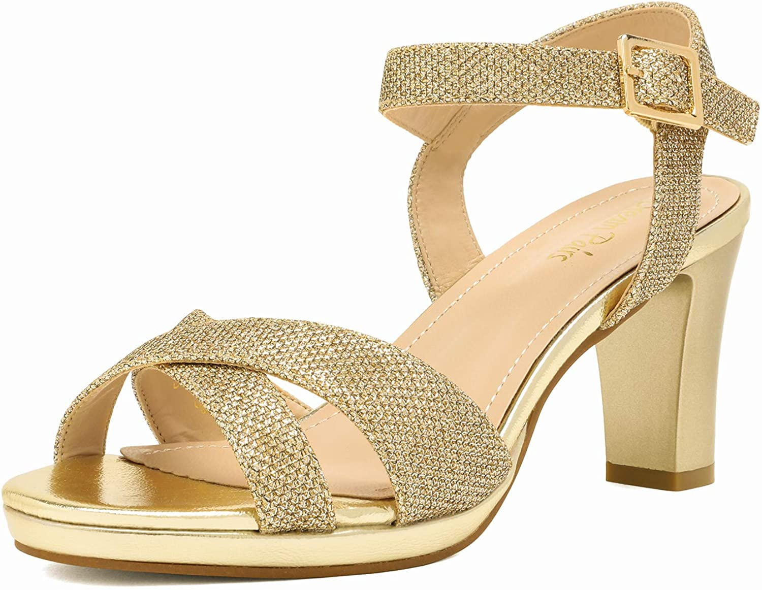 DREAM PAIRS specialty shop Women's Open Toe Strappy Sparkly Max 48% OFF Strap Ankle Ch