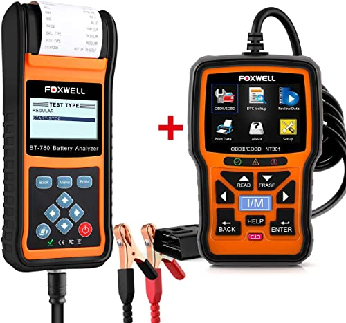 wholesale FOXWELL Car Battery discount Load Tester for 12V 24V Auto Batteries popular BT780 Analyzer with Foxwell Car Scanner NT301 sale