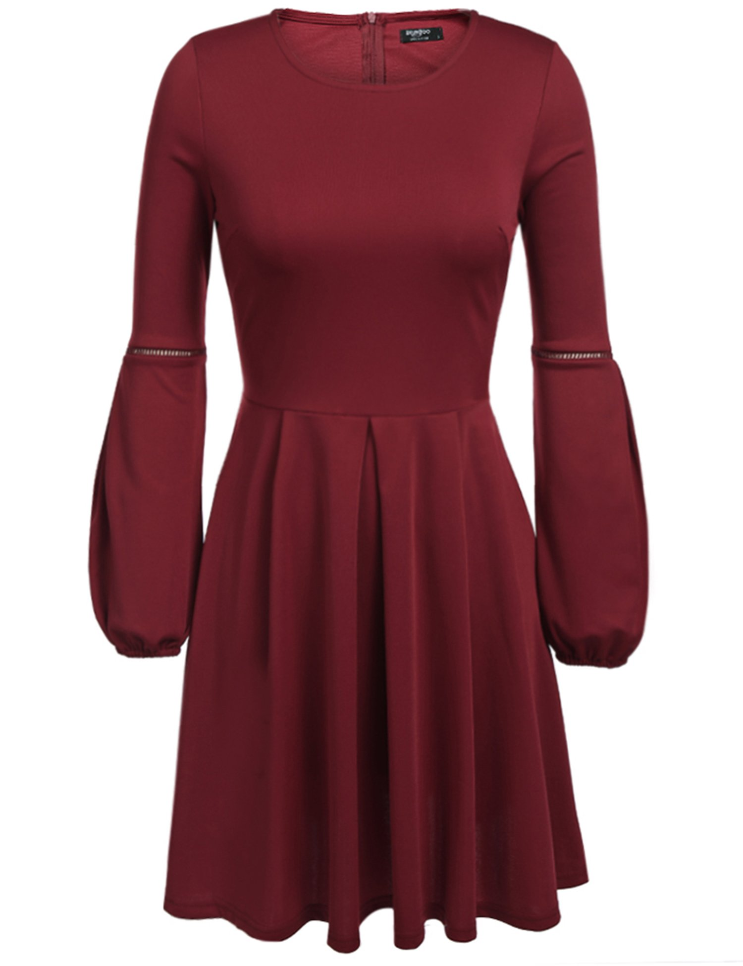 Available at Amazon: Beyove Women's Vintage Scoop Neck 3/4 Sleeve Casual A-Line Swing Cocktail Party Dress
