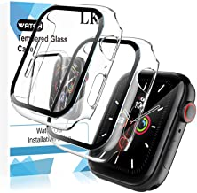 LK 2 Pack Tempered Glass Case Compatible With Apple Watch SE Series 6 Series 5 Series 4 40mm, Model No. LK3356