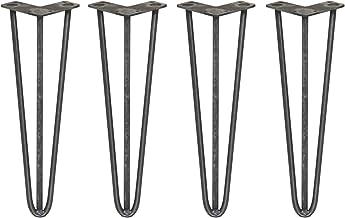 4 x 40,6cm Hairpin retro pootjes tafelpoten pinpoten - 3 Ledig - 12mm - Ruw staal