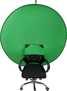 BOYXCO Gen2 Collapsible Portable Webcam Background Chroma Key Greenfor Video Chats, Zoom, Skype, Backdrop Video Calls, Chr...