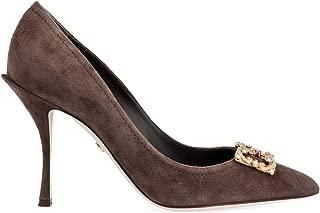 DOLCE E GABBANA Luxury Fashion Womens CD1361AV30180081 Brown Pumps | Fall Winter 19