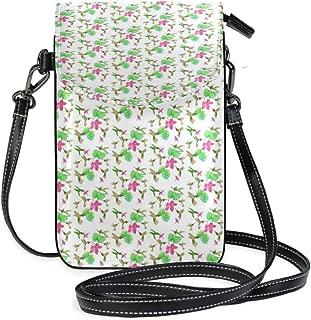 LORONA Tropical Hummingbirds Pattern Cell Phone Purse Wallet for Women Girl Small Crossbody Purse Bags