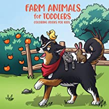 Farm Animals for Toddlers: Little Farm Life Coloring Books for Kids Ages 2-4, 6-8