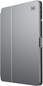 Speck Products BalanceFolio Clear iPad 10.2 Inch Case and Stand (2019), Gunmetal Grey Metallic/Clear