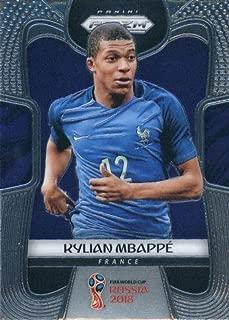 2018 Panini Prizm Soccer #80 Kylian Mbappe France World Cup Russia Futbol Card