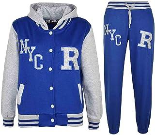 0f715b1554296 A2Z 4 Kids® Enfants Filles Garçons Baseball Survêtement NYC Fox Veste &  Pantalons des Sports Sweat À Capuche Pantalons Jogging Costume Joggers Âge  2 3 4 5 6 ...