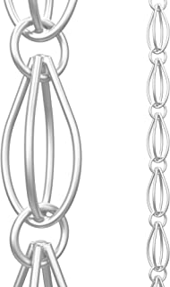 Rain Chains Direct Oval Loop Chain Made With Aluminum, 8.5 feet