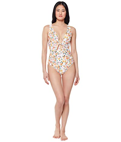 Jessica Simpson Summer Dreaming Tie Front One-Piece