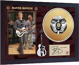 SGH SERVICES David Bowie - Póster Enmarcado de Disco de Vinilo con diseño de música en Miniatura