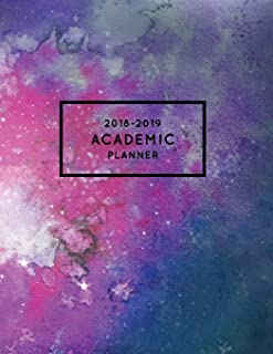 2018-2019 Academic Planner: Watercolor Stars + Constellations | Aug 2018 - July 2019 Weekly View |To Do Lists, Goal-Setting, Class Schedules + More (Astronomy Gifts) (Volume 1)