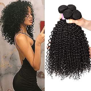 8A Brazilian Kinkys Curly Hair Bundles Virgin Kinky Curly Bundles 8 10 12 Inch 100% Unprocessed Brazilian Kinky Curly Human Hair Weave Bundles Natural Color