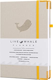 $23 » Live Whale, Undated 12 Month Planner and Personal Organizer. The Look and Feel of Linen - The Durability of Engineered Mat...