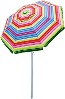 Rio Beach Deluxe 6ft  Sun Protection Beach Umbrella with Tilt