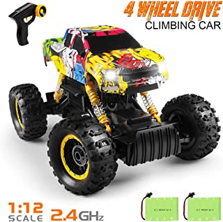 Tomons Remote Control Trucks Monster Trucks 1: 12 RC Car 2.4GHz 4WD Remote Control Car with 2 Rechargeable Batteries