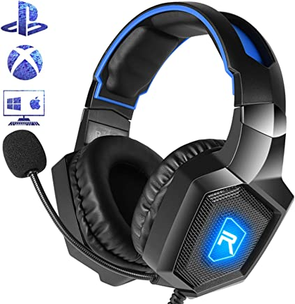 Cuffie da Gioco K8 LED Cuffie Gaming con 3.5mm Jack LED con Microfono Regolabile e Controllo Volume Cancellazione Rumore Compatibile PS4/Xbox One X e S/Nintendo Switch/PC/Laptop/Tablet - Trova i prezzi più bassi