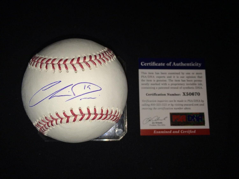 Chris Davis Signed Baseball  Major League Crush  PSA DNA Certified  Autographed Baseballs