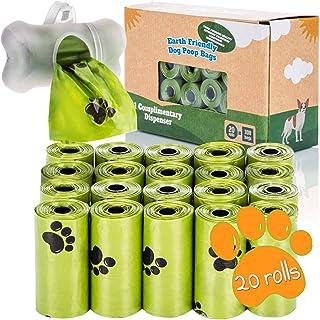 Bolsas de caca de perro orgánicas con dispensador Bolsas de caca de perro compostables con dispensador 100% biodegradables...