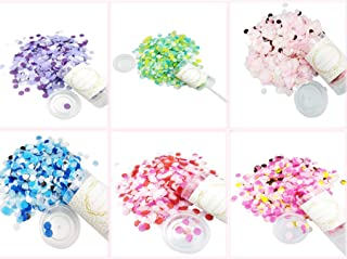 Push Tube Confetti Cannons Party Poppers - 6 Ps 6x7.5x3.8 in Multicolor Dot party pops popped Party Blowers for Wedding, Holiday, Anniversary, Birthday